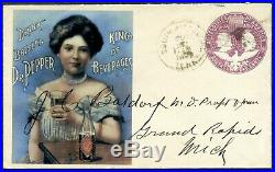 Rare Vintage 1893 Dr. Pepper Postal Advertising, Expertized, Authenticated