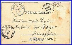 Rarest ALOHA NUI 1890s Kingdom Hawaii Postcard Pioneer Private Mailing Natives