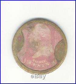 STOCK usa 1862 CIVIL WAR Ayers encased postage rare coin token stamp fractional