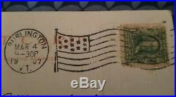(Sideways)Benjamin Franklin Stamp RARE ANTIQUE 1907 1 CENT STAMP 100% AUTHENTIC