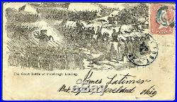 Sto101 #63 Civil War Patriotic Cover The great battle of Pittsburgh Landing