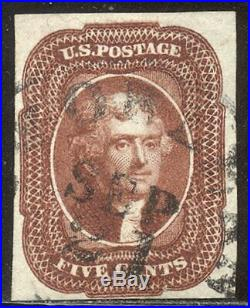 U. S. #12 Used BEAUTY withCert 5c Red Brown