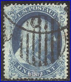 U. S. #22 Used BEAUTY withCert 1c Blue, Type IIIa