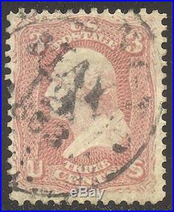 U. S. #64 Used BEAUTY withCert 3c Pink