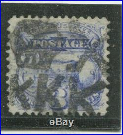 U. S. Stamps Scott #114 Used, VF, KKK Skull & Crossbones Cancel, PFCERT (X5424N)