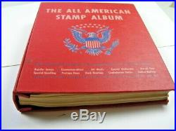 US, 100's of MINT/USED Stamps hinged in a Minkus All American album