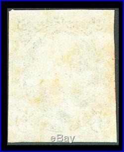 US #1a 5¢ dark brown FRANKLIN, VF/XF-USED, CV $800