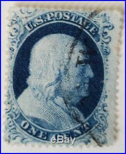 US 22 1c Franklin Used 1857 Issue Type IIIa