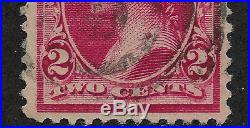 US # 220v (1890) 2c Used VF EFO Bubble on Right #2