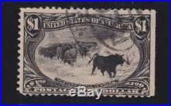 US 292 $1 Trans-Mississippi Used Fine SCV $700