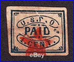 US 7LB12 Local Stamp Used with Red Star SCV $275