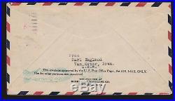 US C15 on Graf Zeppelin Flown Cover to Iowa VF SCV $625