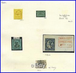 US Mint & Used Locals Brady & Co & Barr's & Pomeroy's Cat $2,675