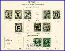 US Mint & Used Officials Stamp Collection SCV $3,300.00