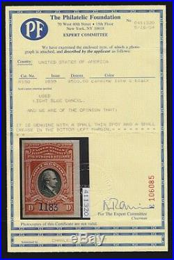 US R180 1899 $500 Revenue Used VF-XF appr with PF Certificate SCV $800