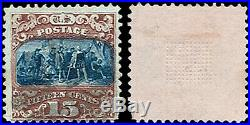 US Scott #112 #121 Pictorial Issues 1869 Used