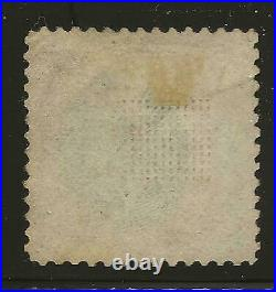US Stamp #122 1869 Carmine & Black 90 Cent Lincoln Pictorial Used Lite Cancel SC