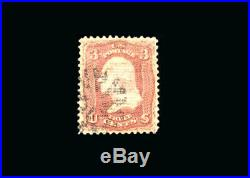 US Stamp Used, Super b S#85C Light fancy Cancel, An Exceptional Gem on this norm