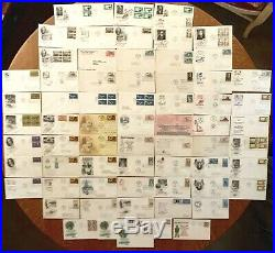 US Stamps 1950 1960s Huge Cachet Lot First Day Cover FDC Collection 510+ Items