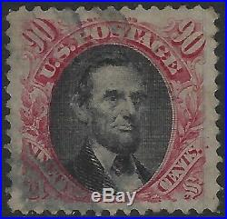 US Stamps Sc# 122 90c Pictorial Used Superb Centering! (A-868)