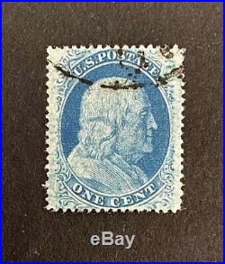 US Stamps, Scott #24 Type V 1857 1c'used' 2019 PSAG GC XF 90 Fresh
