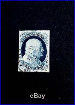 US Stamps, Scott #9 1852 1c'used' Type IV 2018 GC XF 90
