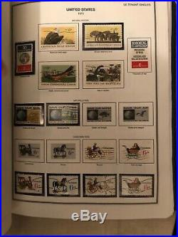 United States Liberty Stamp Album 1847-2000 Over 1970 Stamps Great Condition