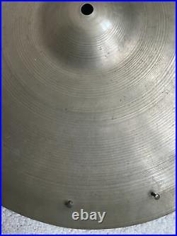 Vintage 40s Trans Transition Stamp Zildjian 16 Crash Cymbal 865 Grams