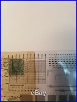 Vintage Post stamp Benjamin Franklin 1c Rare Great investment & Flag cancellatio