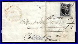WCstamps U. S. Scott #2 / $1,050 Angry No. 2 On Cover, Washington DC, Fine