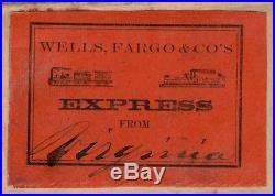 WELLS FARGO EXPRESS COVER w TRAIN STEAMBOAT LABEL VIRGINIA CITY NEVADA TERRITORY