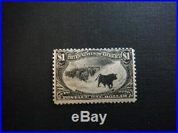 WPPhil US Stamps US #292 $1 TRANS MISSISSIPPI OG VLH SCV $1400.00