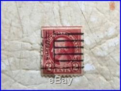 XXX RARE RED LINE Cent George 2 Washington 1928Postage Stamp